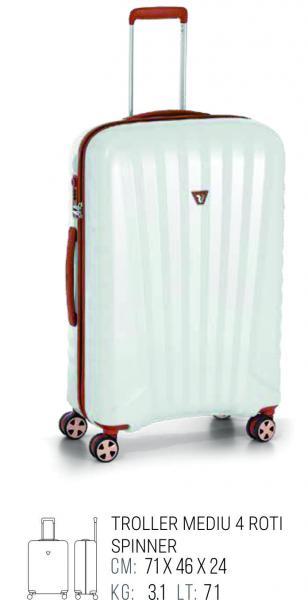 Troller Mediu Uno Deluxe Roncato Alb-big